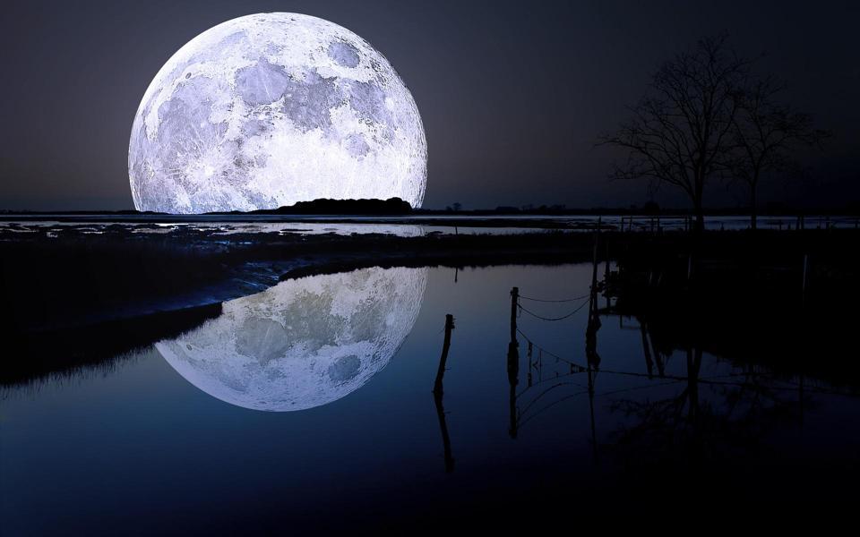 美丽夜晚星空高清壁纸图片