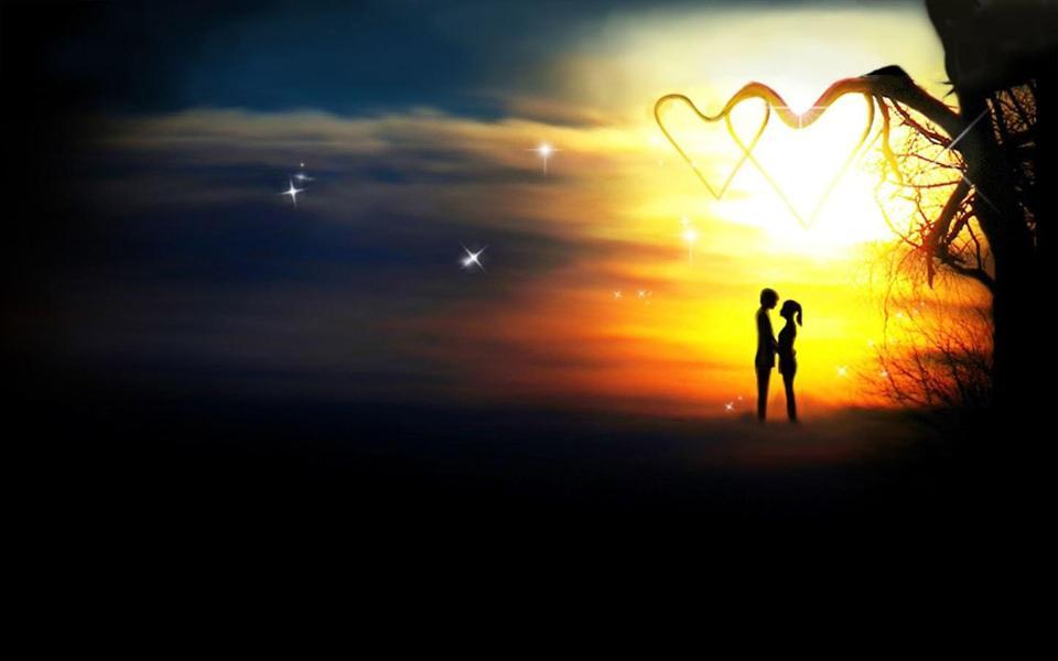 黄昏浪漫爱情桌面背景图片-电脑桌面壁纸_壁纸大全