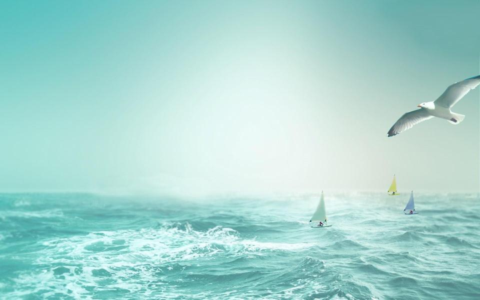 大海风景高清图片电脑壁纸(2) pic1.5442.com 宽1920x1200高