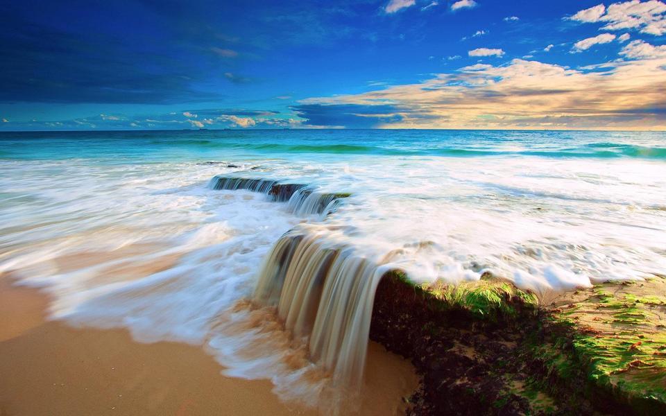 夏日海边风景唯美意境图-电脑桌面壁纸_壁纸大全