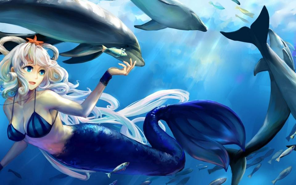 Wallpaper Fish Women Under Sea Wallpapers