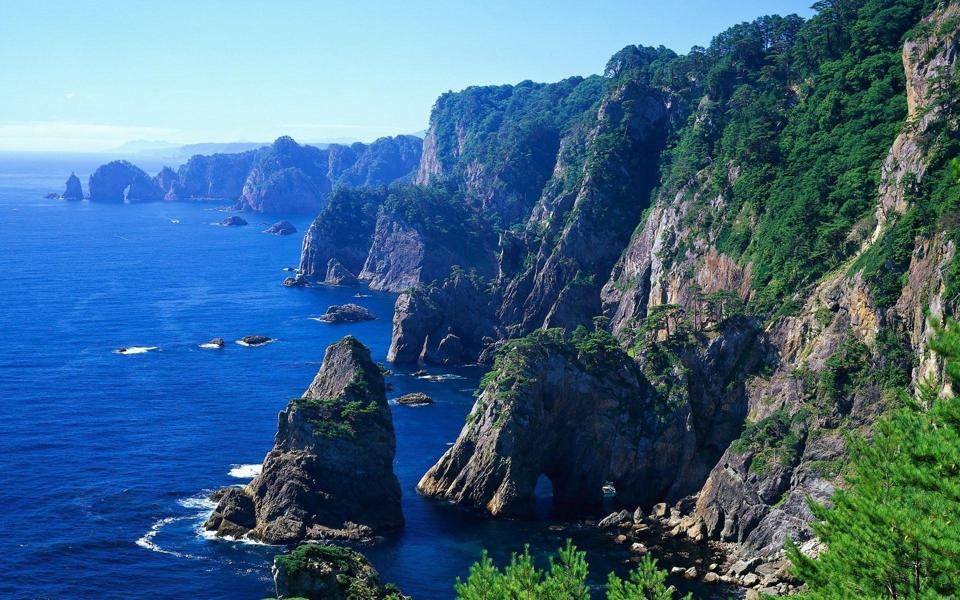 高清海岸风景桌面壁纸图片