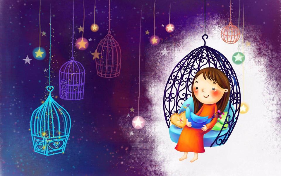 61儿童节快乐绘画桌面壁纸