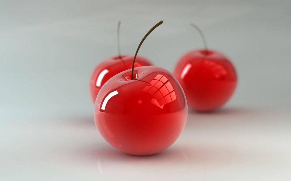 红樱桃3d桌面壁纸