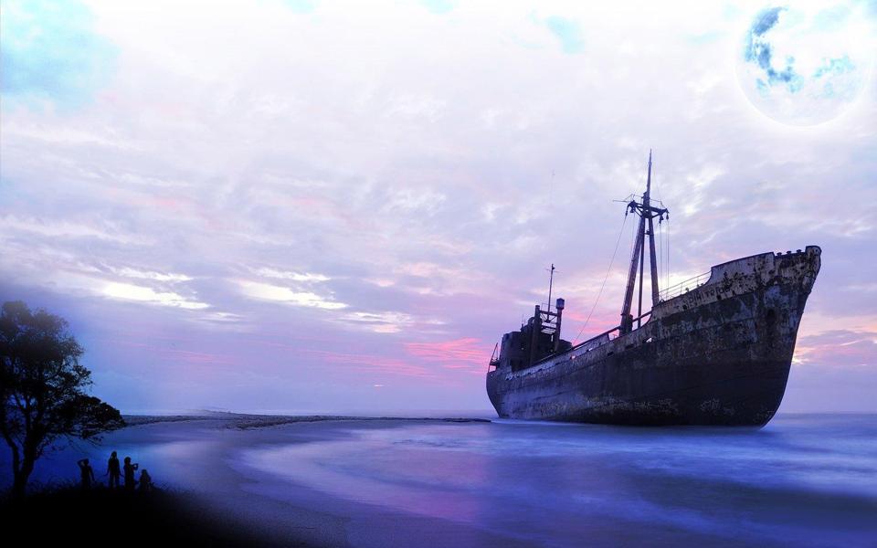 高清唯美壁纸图片-电脑桌面壁纸_壁纸大全大海轮船高清唯美壁纸图片