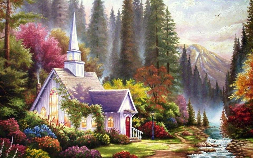 精美绘画风景壁纸高清图片
