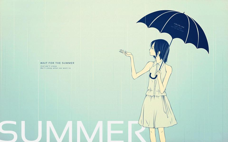 夏天雨季伤感非主流壁纸桌面