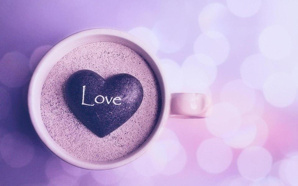 I Love You Heart Wallpaper 3d love爱情咖啡桌面...