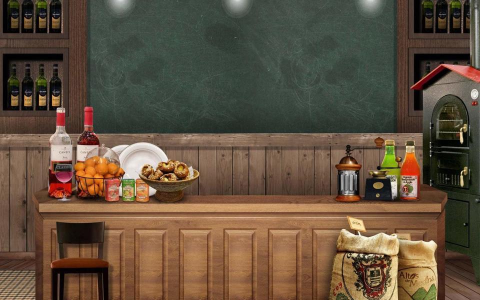 欧美厨房摆设桌面壁纸