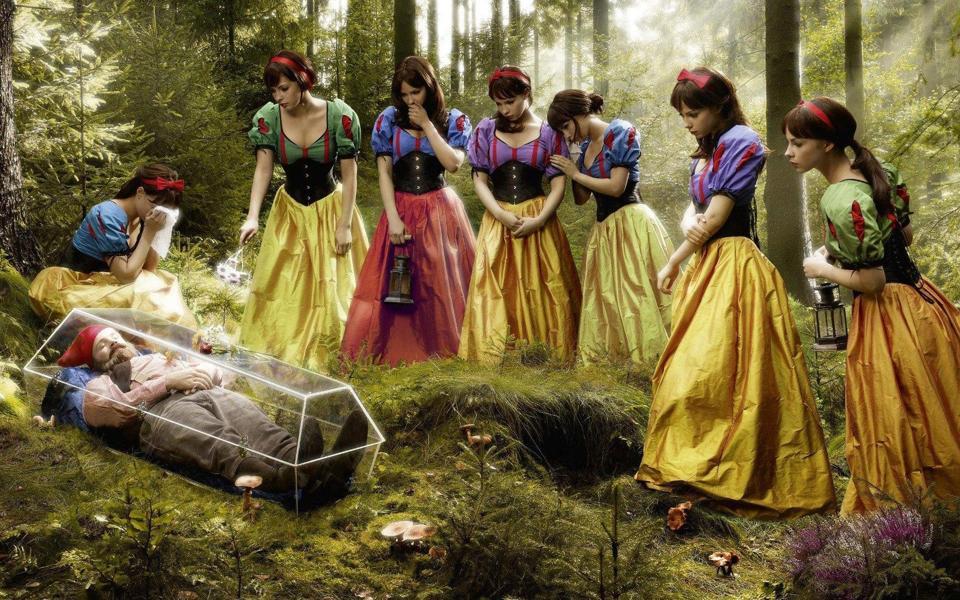 小矮人和七个小公主幽默高清壁纸