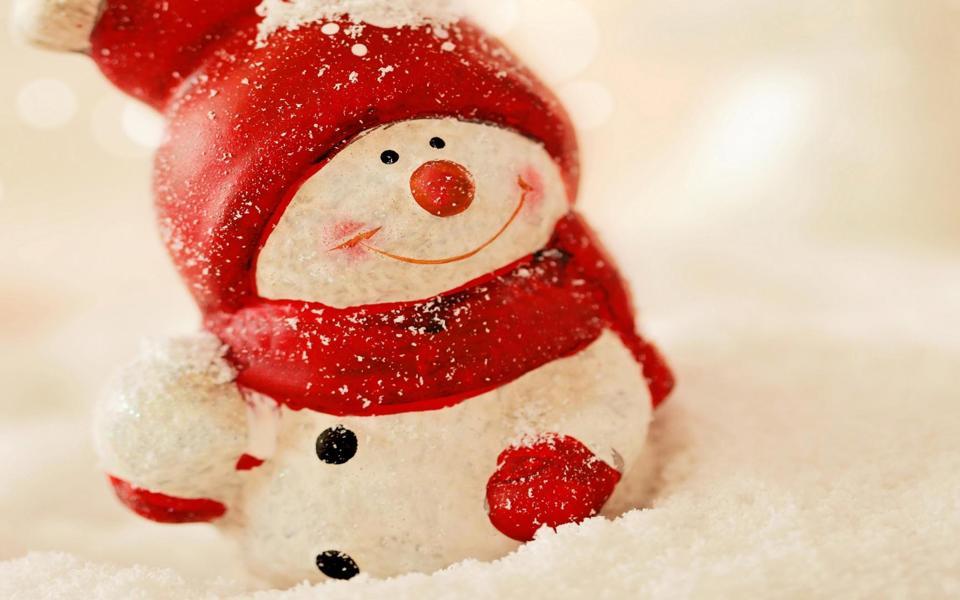 可爱的雪人唯美桌面壁纸