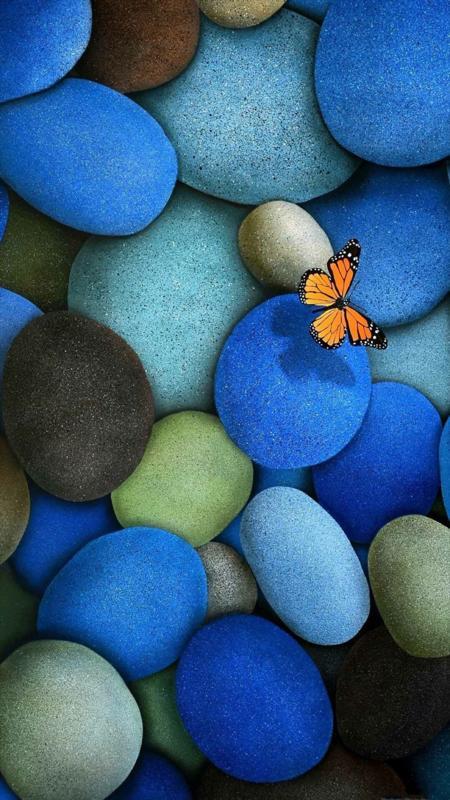 彩色的鹅卵石高清苹果6s壁纸