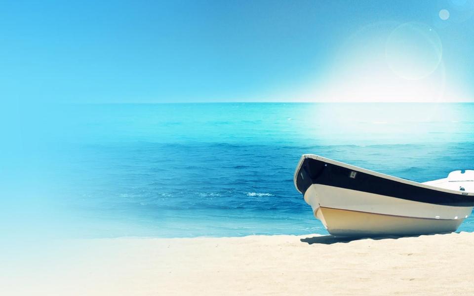 大海边的小船风景桌面壁纸-电脑桌面壁纸_壁纸大全