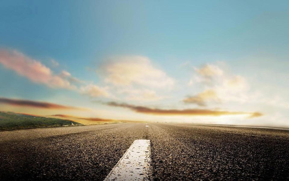 小清新公路桌面壁纸