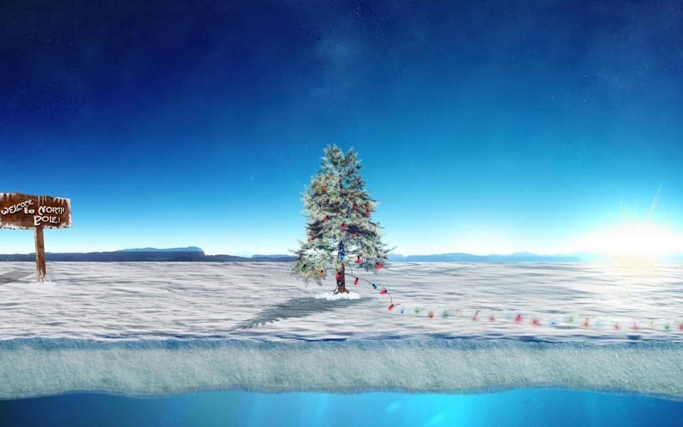 上的圣诞树风景桌面壁纸-电脑桌面壁纸_壁纸大全