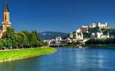 奥地利萨尔茨堡景点风景桌面壁纸