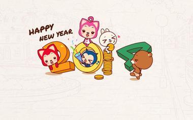 2014新年快乐阿狸壁纸