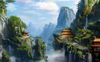 中国风游戏场景原画壁纸大图