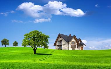 高清别墅绿化风景桌面壁纸