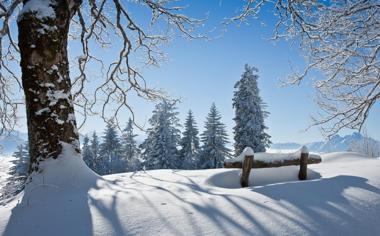 好看的冬季雪景高清壁纸