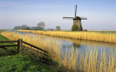 荷兰风车高清风景壁纸