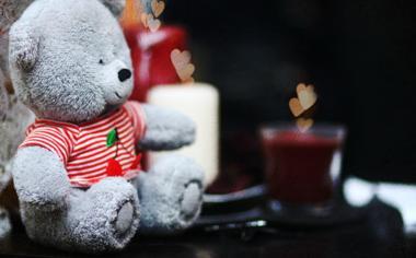 可爱的玩具熊唯美桌面壁纸