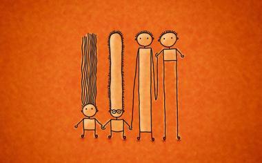 简约卡通小人高清壁纸