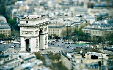 城市高清移轴摄影壁纸