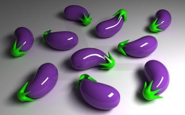 紫色茄子3d电脑桌面壁纸高清下载