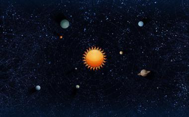 太阳系八大行星简图高清壁纸
