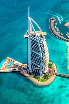 奢华的迪拜帆船酒店高清手机壁纸图片