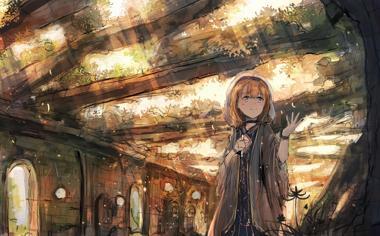 遗迹废墟中的女孩动漫壁纸