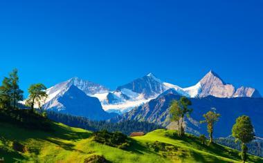 阿尔卑斯山山峰风景壁纸