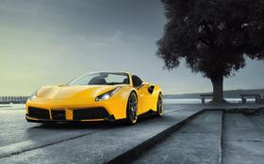 黄色跑车法拉利488桌面壁纸