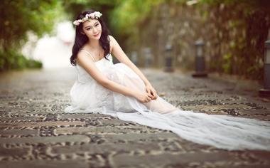 漂亮的婚纱美女摄影壁纸下载