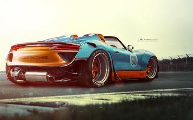 你没见过的超跑918帅气侧身壁纸图片