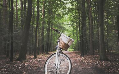 高清道路中自行车图片素材壁纸