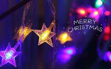 好看的圣诞节平安夜灯光图片背景桌面