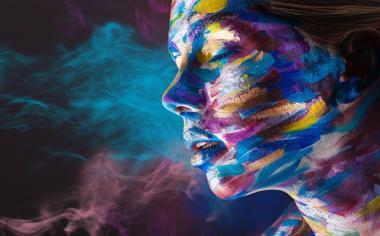 彩色头像彩绘图片头像壁纸