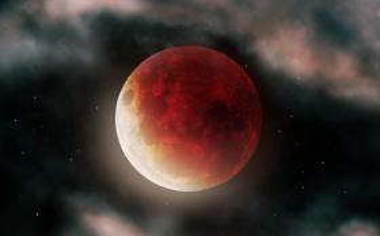 拍摄的红月亮图片壁纸